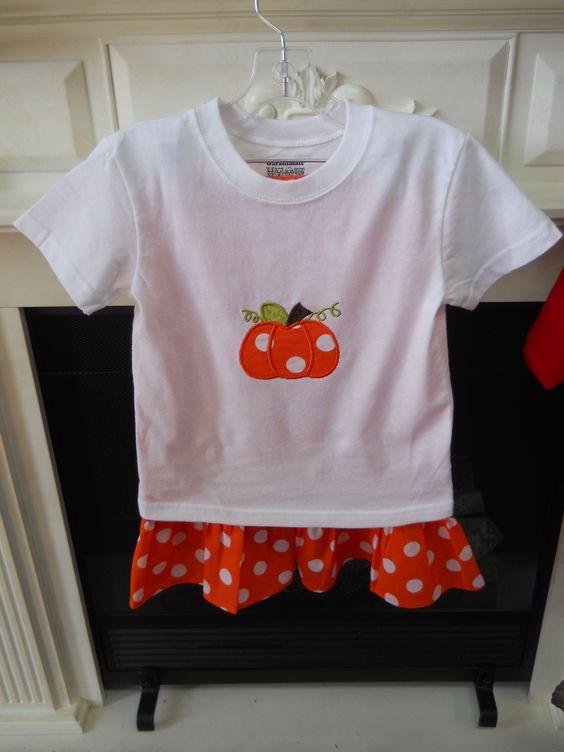 Pumpkin Applique Pant Set   Sizes  24M  and  3