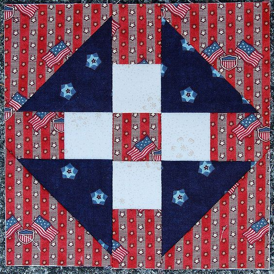 """Going to Richmond    Block from the book """"The Civil War Love Letter Quilt."""