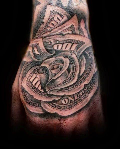 Potential knee tattoo.