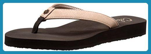 cobian Damen Flip-Flops Skinny Bounce Schwarz (38.5 EU/8 Us, Schwarz)