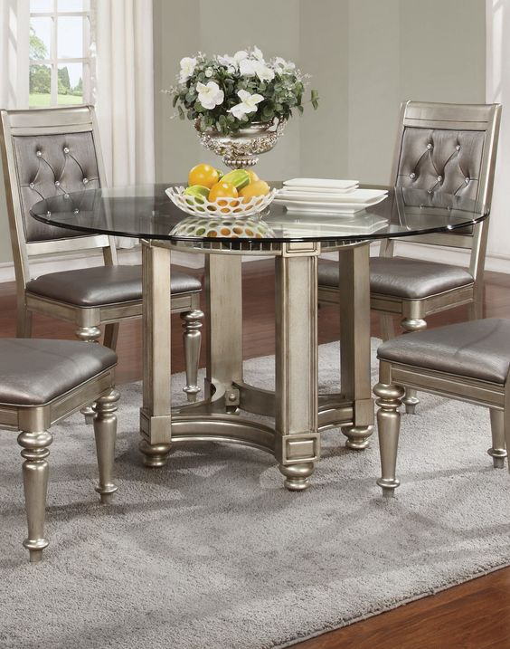 silver dining room set for the home pinterest room set dining