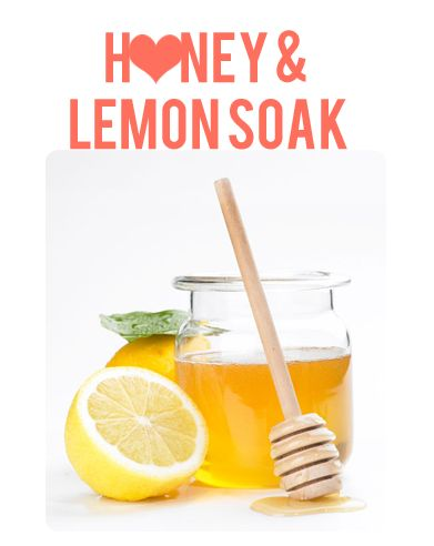 Easy Hand Soak!- Lemon, honey & sugar are my top 3 favorite beauty ingredients!!!