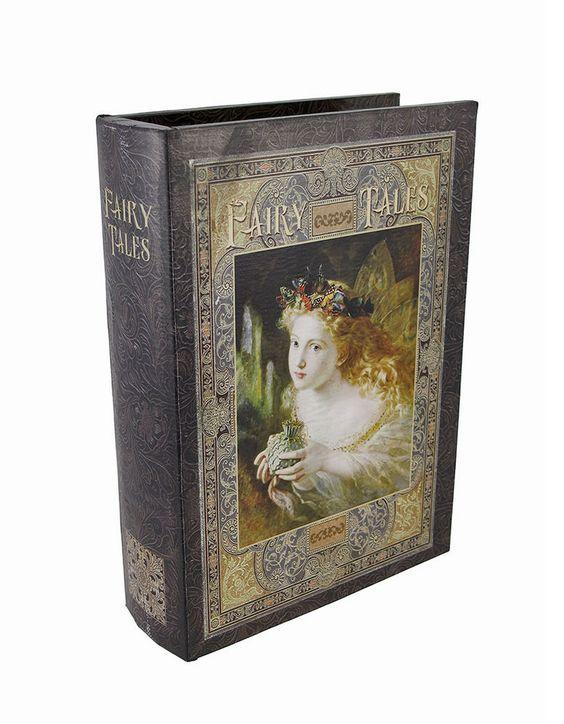 `Fairy Tales` Fantasy Book Secret Stash Box