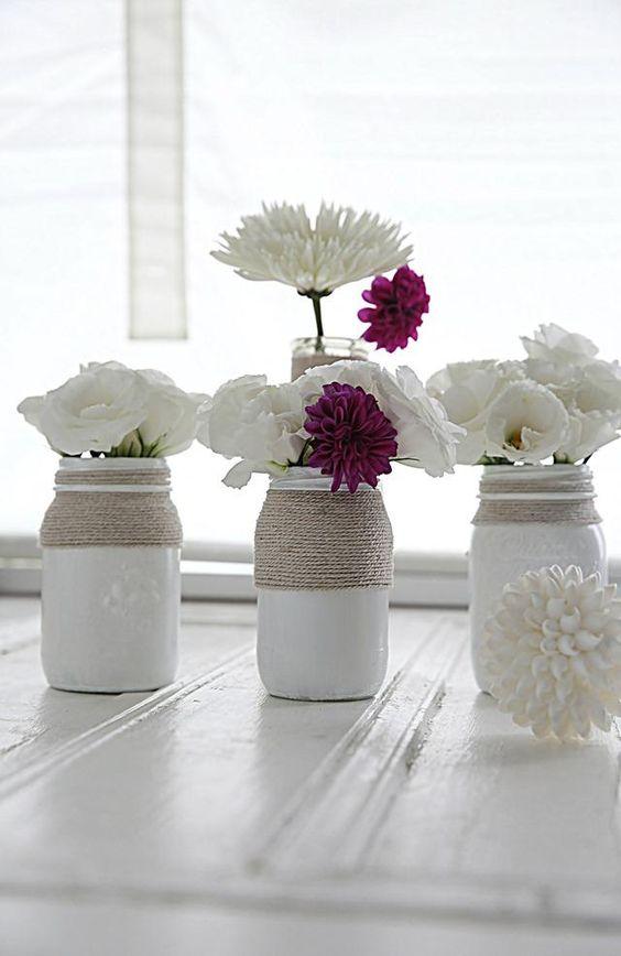 Faça os seus potes um adornop de decor basta pintar use flores de papel de seda, use umas cordas a volta do pote e voila, decor perfeito, pinte o pote por dentro e não por fora Viral Beauty