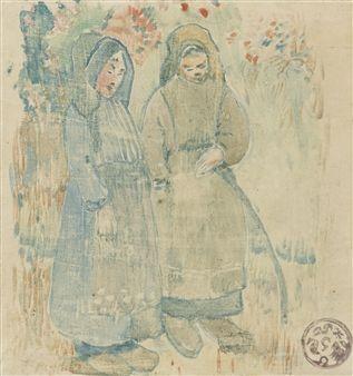 'Deux Bretonnes' - Paul Gauguin  - (1894)