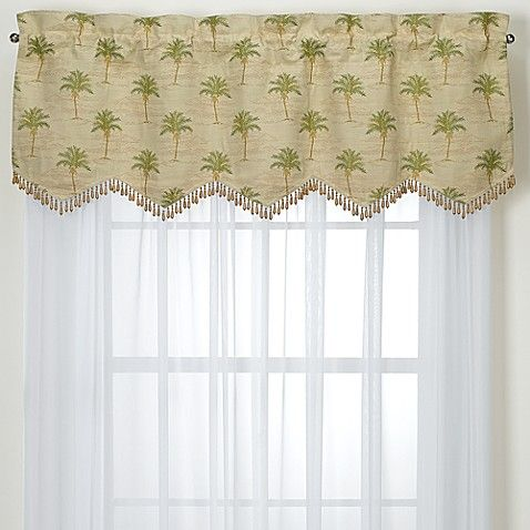 South Beach Palm Valance Bed Bath And Beyond Valance Home Decor Accessories