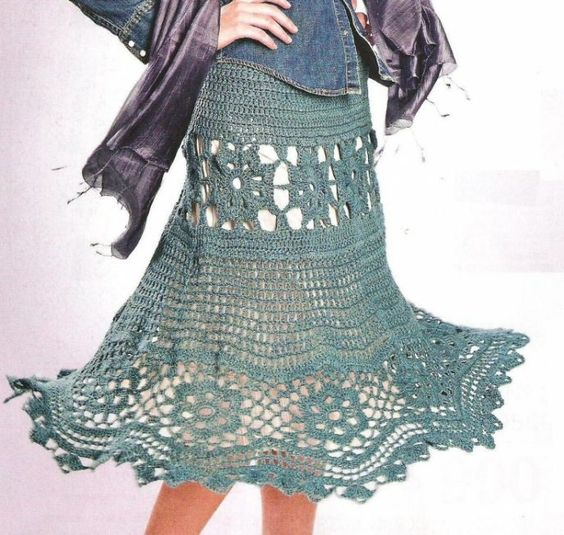 Free Crochet Pattern Ladies Skirts : Free Crochet Skirt Patterns For Women crochet goodies ...
