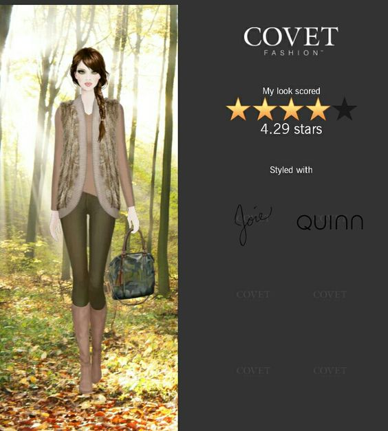 Covet Fashion Game. Look: Archer