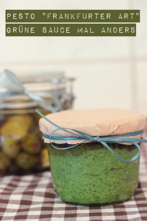 "cup and cake: Let's picnic - Pesto ""Frankfurter Art"""