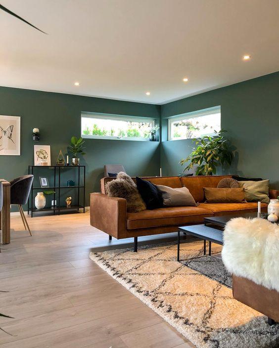 Phòng khách tươi mới ấn tượng cùng sofa da tphcm