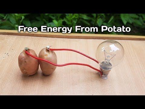 Free Energy Light Bulbs 220v Using Potato 2018 Youtube Free Energy Energy Bulb