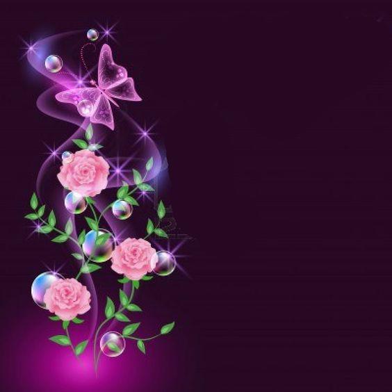 خلفيات مضيئة للفوتوشوب خلفيات براويز للتصميم والكتابه Glowing Background Flowers Cards