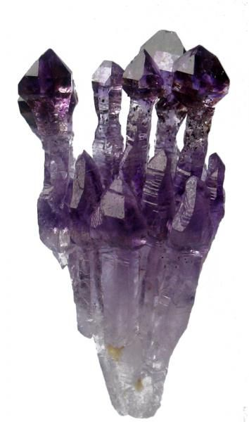 Amethyst Scepters - I have some of these - they are teeny tiny usually, and with Rutile inside! #pixiecrystals