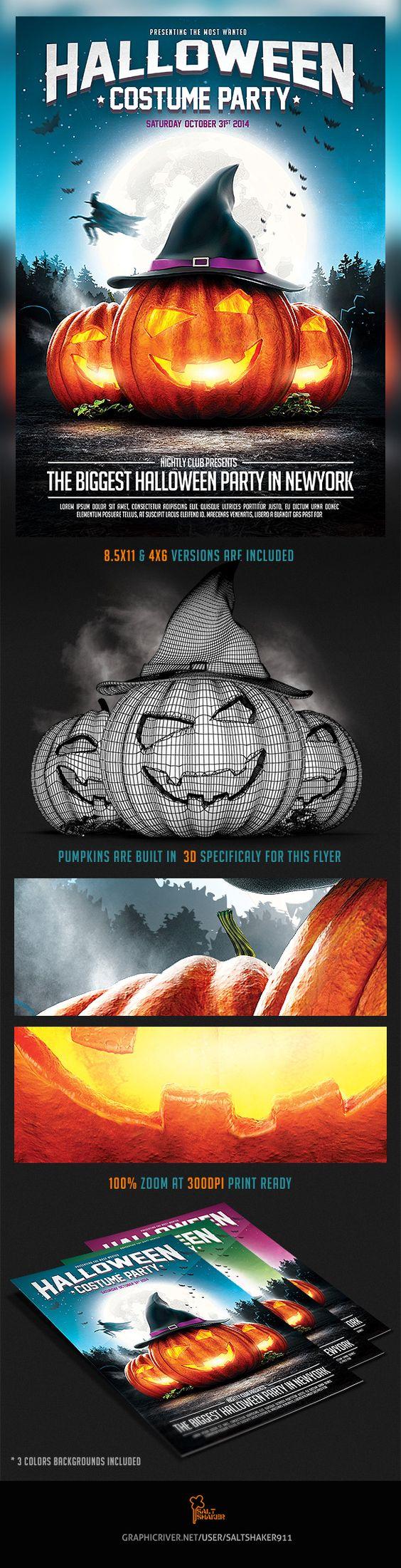 halloween flyer templates photoshop