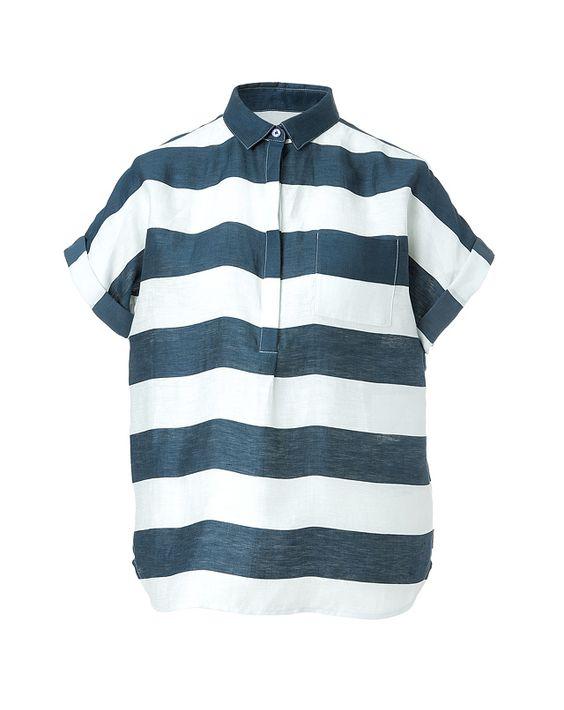 Shop now: Burberry Brit striped linen shirt