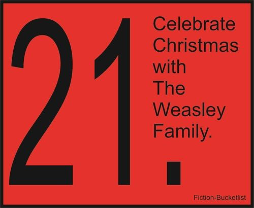 Fiction bucket list...I've always wanted a Mrs. Weasley sweater with my initial on it :)