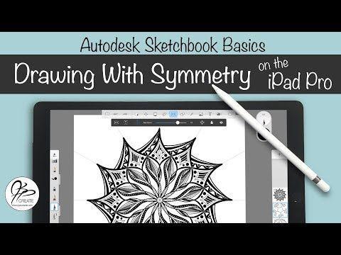 Symmetry On The Ipad In Autodesk Sketchbook Autodesk Sketchbook Tutorial Ipad Drawings Sketch Book