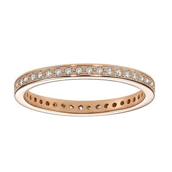 Pin for Later: Verlobungsringe aus Rotgold sind echte Multitalente  CHRIST Diamantring aus 585er-Roségold, mit 43 Brillanten, 43 Brillanten mit einem Gesamtkarat von  0.2 (599 €)