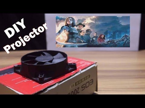 Diy Homemade Projector Without Magnifying Glass Hd Youtube In 2020 Homemade Projector Diy Projector Diy Phone Projector
