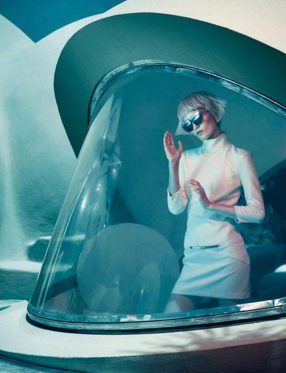 visual optimism; fashion editorials, shows, campaigns & more!: era spaziale: iekeliene stange by sandrine dulermo & michael labica for glamour italia october 2014