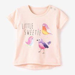 Camiseta de manga corta, estampado fantasía R baby - Bebé Niña (0-3 años)