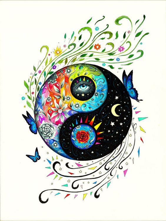 Rey de los ying y yangs - firmado Art Print