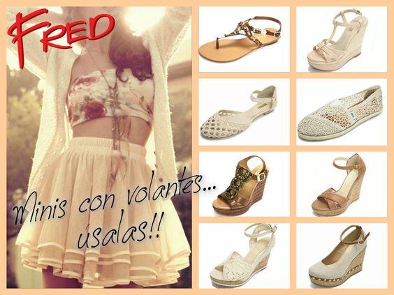 #Outfit #FredZapaterías #FaldaVolantes #Alpargatas #Plataformas #Sandalias