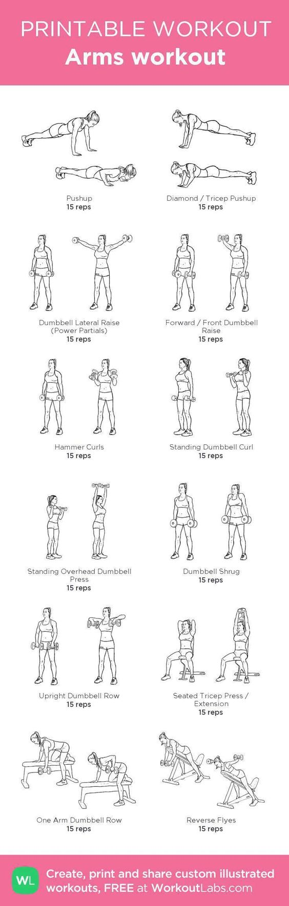 Need a workout to strengthen and tone your arms? Try these efficient dumbbell routines specialized for women.: