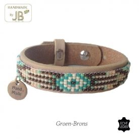 Leer band Aztec - JUST BECAUSE fashion accessoires €12,95 p/st.