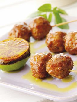 Quorn Meatless Meatballs with Lime & Roasted Garlic  Click for recipe and ingredients!