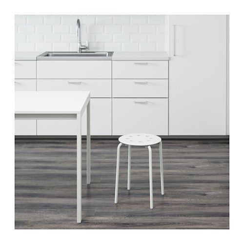 MARIUS Stool  - IKEA $4.99, plain white stool perfect for a DIY project