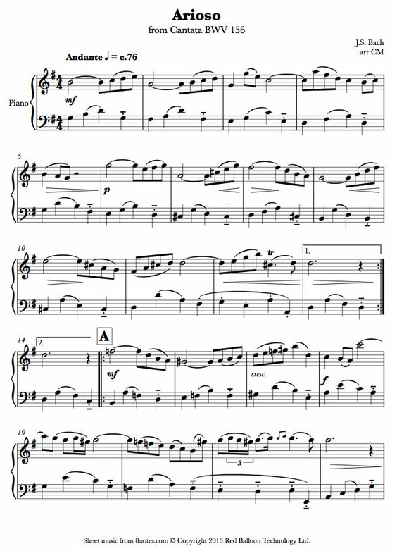 bach sheet music piano pdf