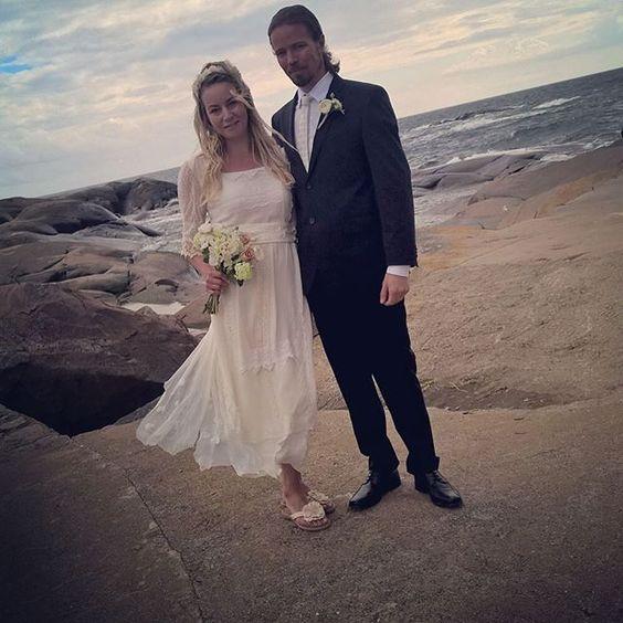Our gorgeous bride wearing the Charlie dress 😘😘❤️❤️ #minna #minnahepburn#bohobride #hippybride #greenwedding #häät #bröllop #morsian #wedding #vintagewedding