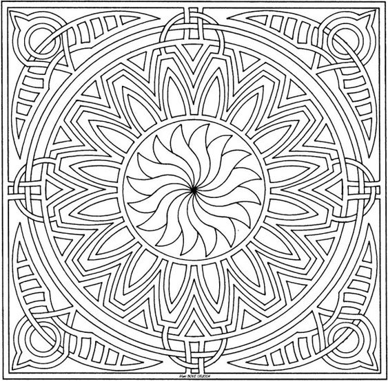 square mandala coloring pages - photo#12