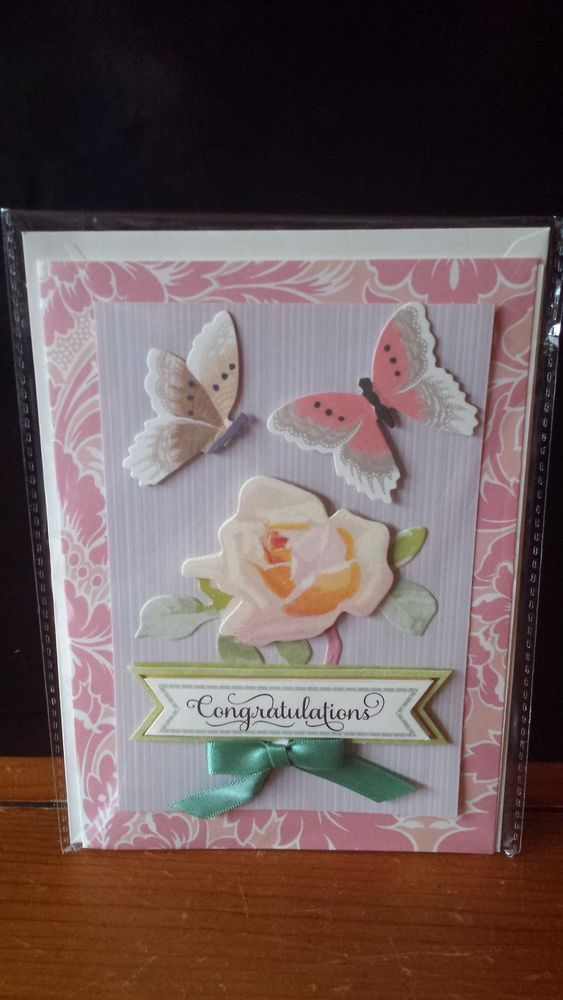 Luxury Hand Crafted Anna Griffin Congratulations Card