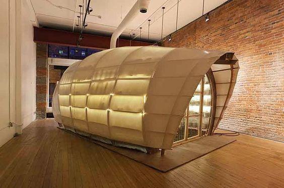 Espacio Interior con una granja de setas