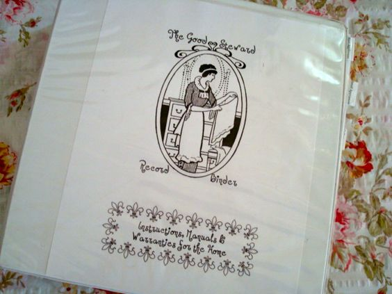 Organize your warranties and appliance info, with this cute household binder from Strangers & Pilgrims on Earth!