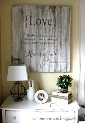"""I absolutely LOVE this wall decor! I want so badly to get some scripture on my walls - you know, """"write is on your doorframe"""" and all - maybe this'll be the one..."""