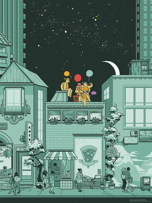 Mondo Tmnt Variant Screen Print By Rosemary Valero O Connell Teenage Mutant Ninja Turtles Art Ninja Turtles Tmnt