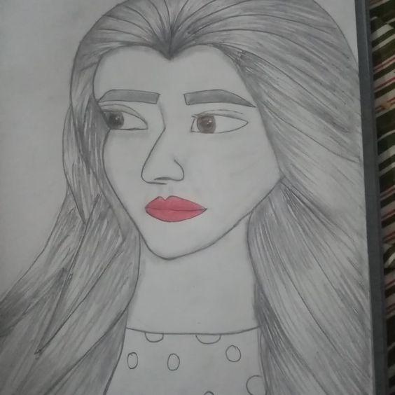 Jannat Mirza Sketch 3d Art Drawing Female Sketch Youtube