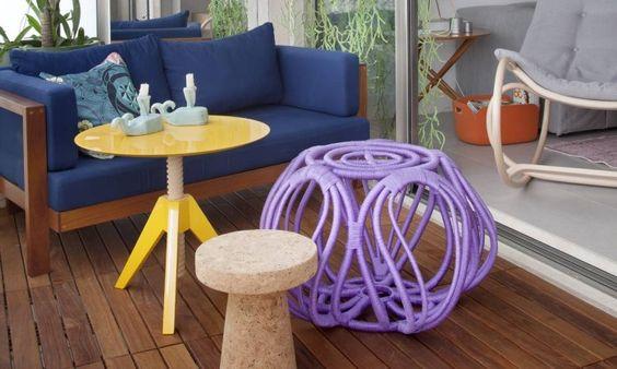 Móveis feitos com corda náutica viram alternativa para áreas externas - Jornal O Globo