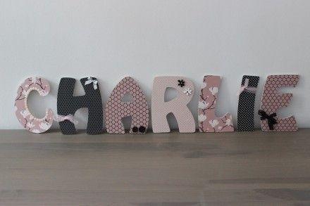 lettres en bois personnalis es pr nom b b enfant chambre lettres deco pinterest boutiques. Black Bedroom Furniture Sets. Home Design Ideas