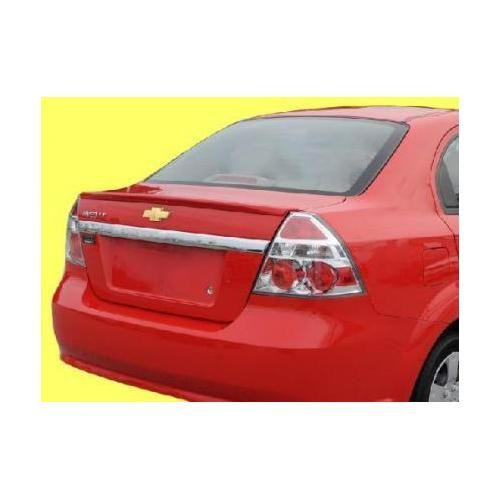 Unpainted 2007 2011 Chevrolet Aveo Spoiler Sedan Factory Lip Style