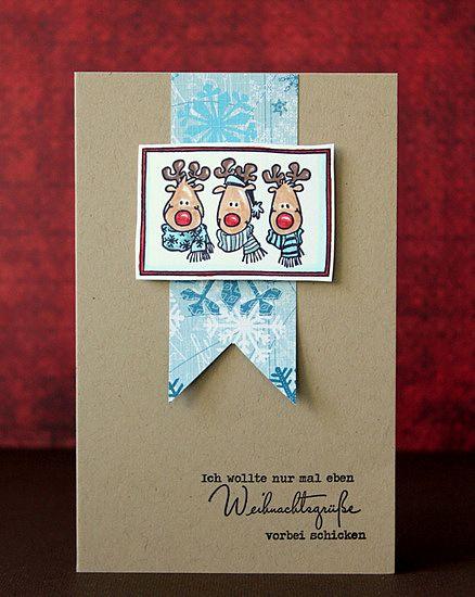 "Surely would also work in a non-Christmas theme ... scrapperia: ""Schriftbild"" weihnachtet!  #handmade #postcard #card #handmadepostcard #diy"