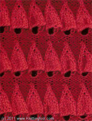 Embossed Bell - Knittingfool Stitch Detail Knitting Stitch Patterns Pinte...
