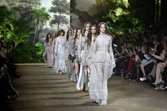 The finale at Elie Saab's spring 2016 couture show. Photo: Pascal Le Segretain / Getty Images