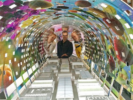 A Spectacular Sq Ft Mural Decorates This NewlyOpened - Incredible 36000 sq ft mural lines ceiling market hall rotterdam