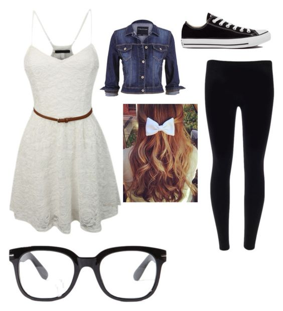 """Untitled #102"" by infintykeeper on Polyvore featuring Forever 21, LE3NO, Converse and maurices"