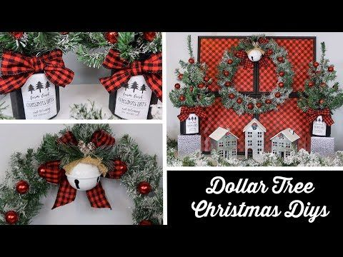 144 Dollar Tree Christmas Diys Red Buffalo Check Youtube Dollar Tree Christmas Decor Dollar Tree Christmas Christmas Diy