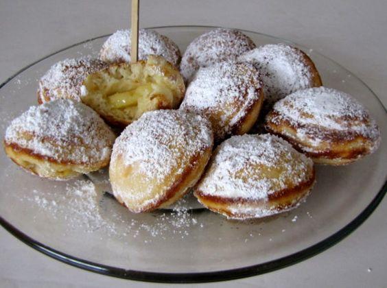 Aebleskiver - slightly larger apple filled Danish pancake puffs
